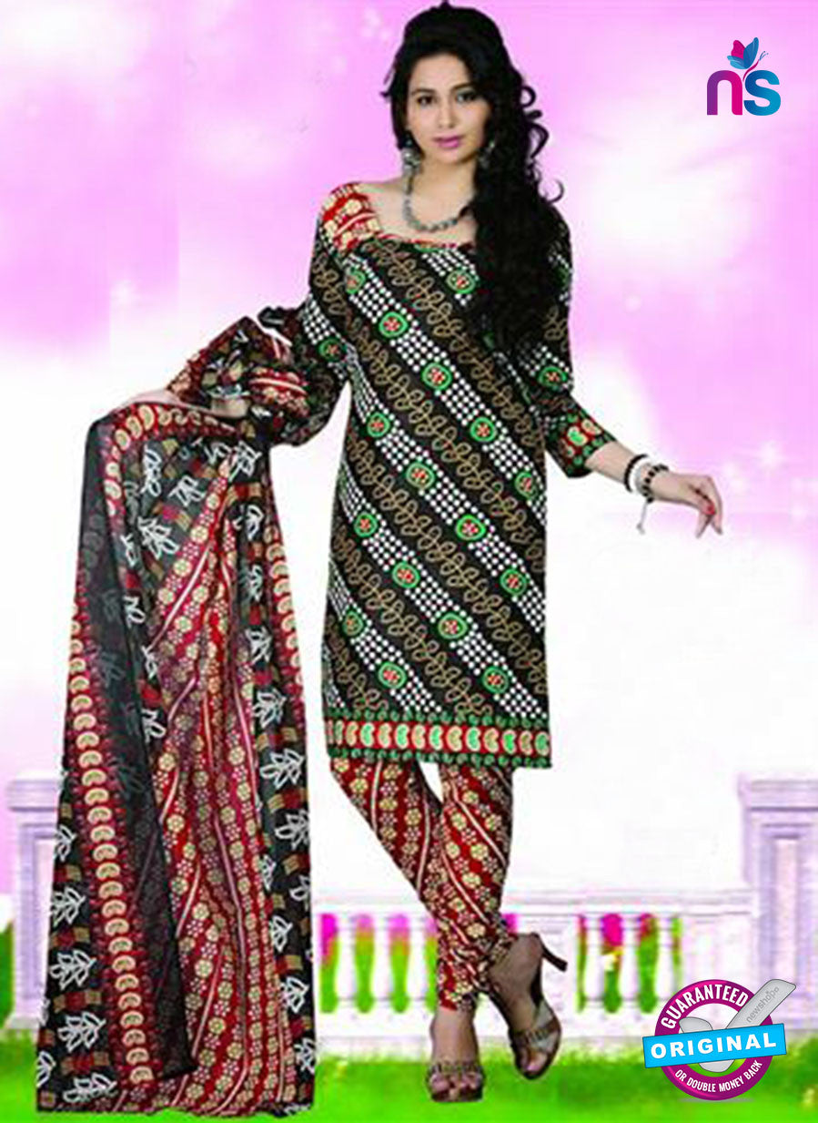 NS12116 Black and Red Chudidar Suit