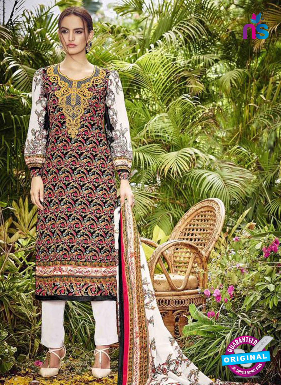 SC 13040 Multicolor and White Embroidered Original Lawn Pakistani Suit