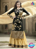 SC 12899 Black and Golden Banglori Silk Party Wear Designer Suit