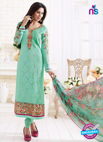 SC 13886 Green Georgette Latest Designer Function Wear Fancy Long Straight Suit