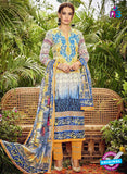 SC 13042 Blue and Yellow Embroidered Original Lawn Pakistani Suit
