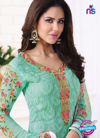 SC 13886 Sea Green Georgette Latest Designer Function Wear Fancy Long Straight Suit Online
