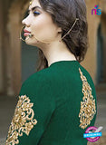 AZ 1075 Green and Beige Embroidered Banglori Silk Lehenga - Lehengas - NEW SHOP