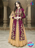 AZ 1076 Magenta and Beige Embroidered Banglori Silk Lehenga