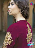 AZ 1076 Magenta and Beige Embroidered Banglori Silk Lehenga - Lehengas - NEW SHOP