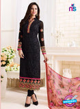 SC 13888 Black Georgette Latest Designer Function Wear Fancy Long Straight Suit
