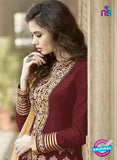 AZ 2181 Maroon Embroidered Banglori Silk Party  Wear Gawn - Gawns - NEW SHOP