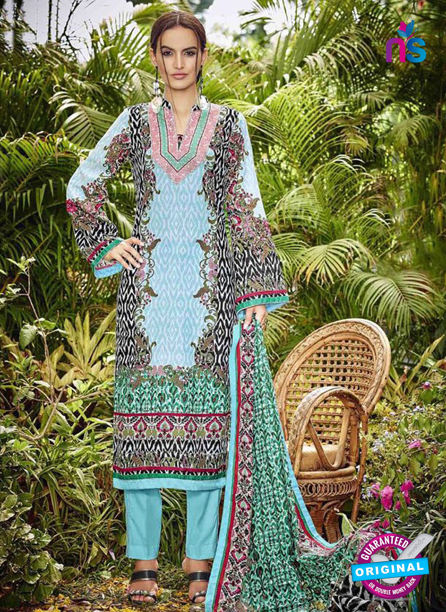 SC 13043 Sky Blue and Multicolor Embroidered Original Lawn Pakistani Suit
