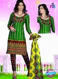 NS12120 Green and Brown Chudidar Suit