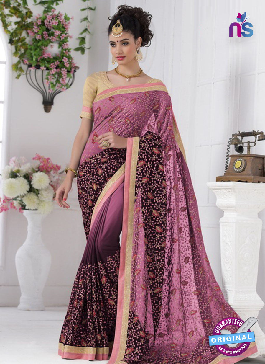 AZ 2191 Purple Georgette Party Wear Saree
