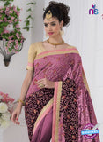 AZ 2191 Purple Georgette Party Wear Saree - Sarees - NEW SHOP