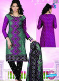 NS12121 Purple and Green Chudidar Suit