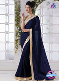 AZ 2195 Blue Fine Chiffon Party Wear Saree