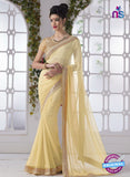 AZ 2196 Yellow Fine Chiffon Party Wear Saree