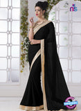 AZ 2199 Black Fine Chiffon Party Wear Saree