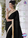 AZ 2199 Black Fine Chiffon Party Wear Saree - Sarees - NEW SHOP