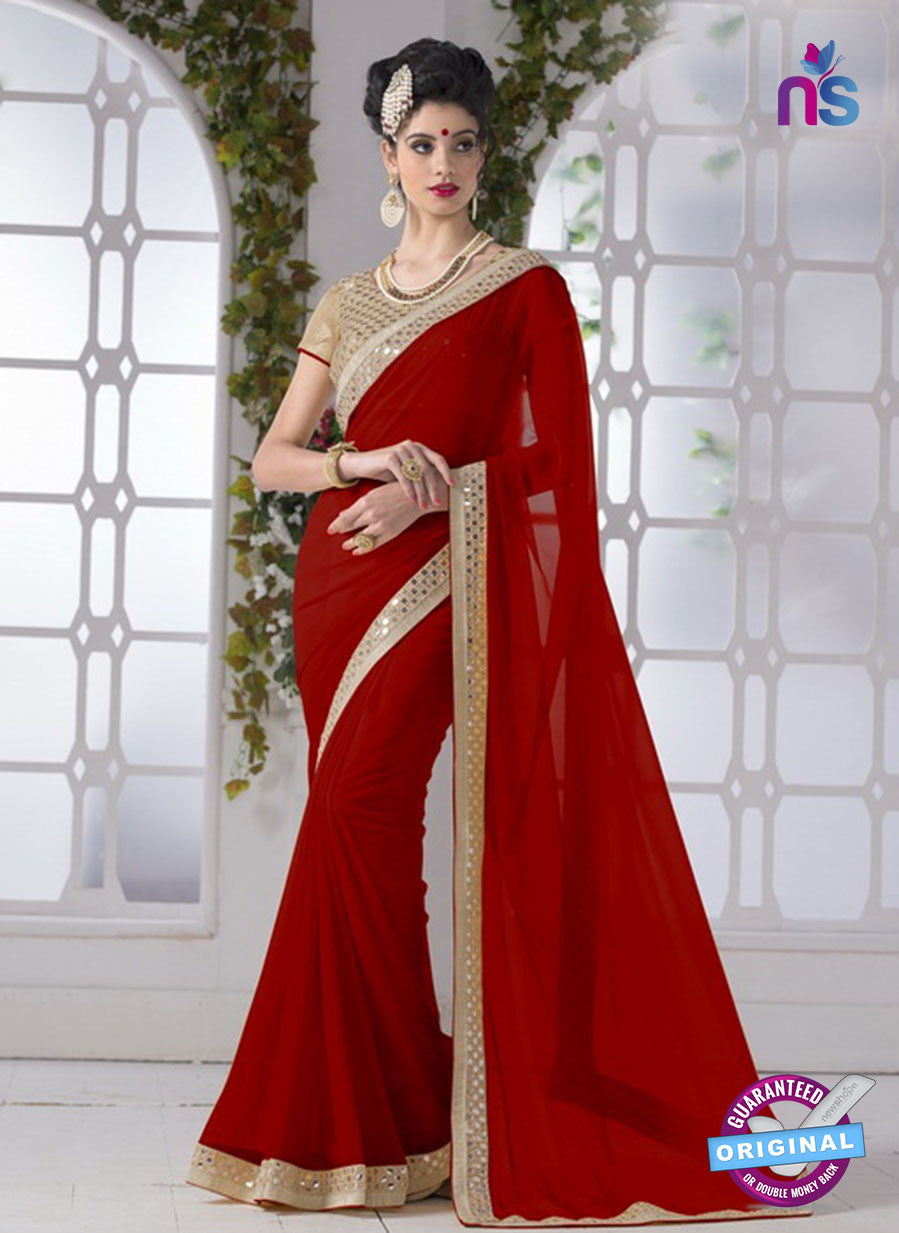 AZ 2200 Maroon Fine Chiffon Party Wear Saree