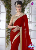 AZ 2200 Maroon Fine Chiffon Party Wear Saree - Sarees - NEW SHOP
