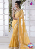 AZ 2201 Yellow Fine Chiffon Party Wear Saree