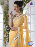 AZ 2201 Yellow Fine Chiffon Party Wear Saree - Sarees - NEW SHOP
