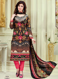 Haseen 1514  Black & Red Color Cotton Designer Suit