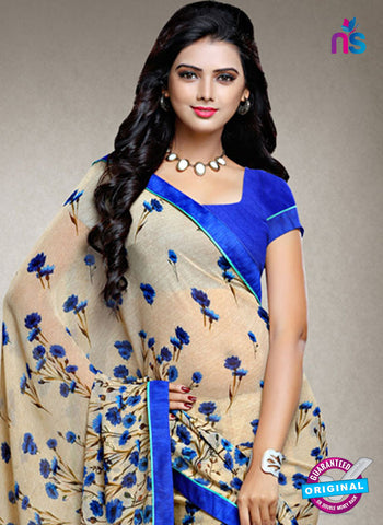 RT 15169 Beige Printed Casual Saree