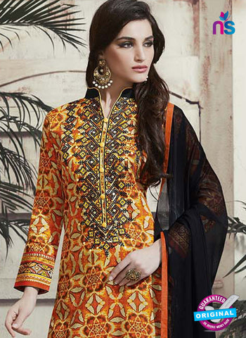 RT 15315 Orange Cotton Suit