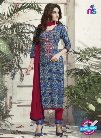 RT 15316 Blue Cotton Suit