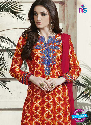 RT 15317 Orange Cotton Suit