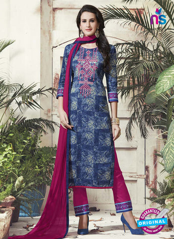 RT 15318 Blue Cotton Suit