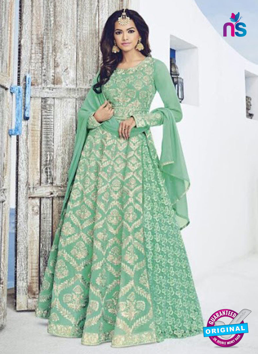 Bela 1532 Sea Green Georgette Indo Western Suit