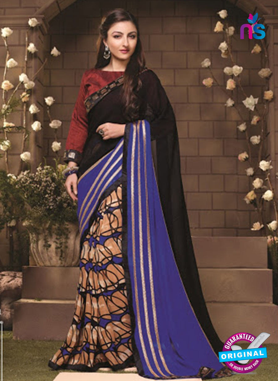 NS10049 Purple and Black Party Wear Designer Saree