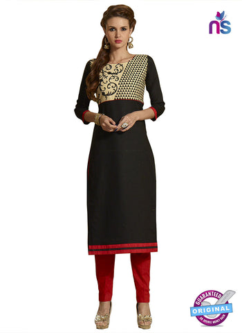 RT 15396 Black Cotton Kurti