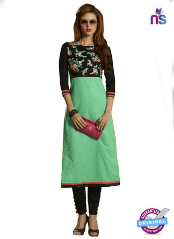 RT 15398 Sea Green Cotton Kurti