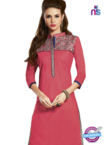 RT 15399 Pink Cotton Kurti