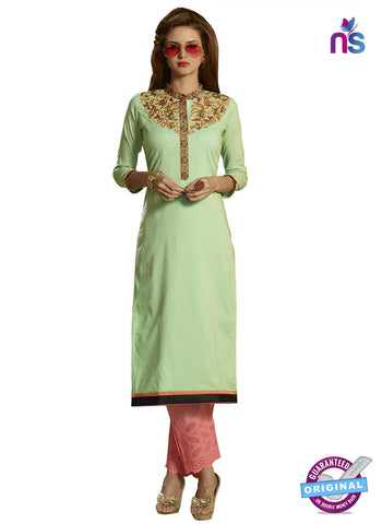 RT 15400 Green Cotton Kurti