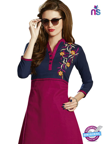 RT 15401 Pink Cotton Kurti
