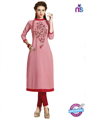 RT 15402 Pink Cotton Kurti