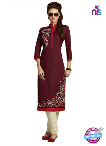 RT 15403 Maroon Cotton Kurti