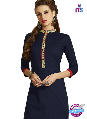 RT 15405 Blue Cotton Kurti