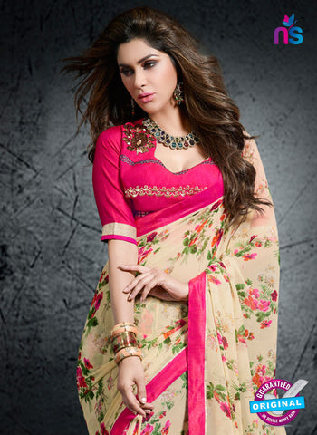 Rt 15409 Beige Casual Saree