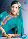 SC 13979 Sky Blue Brasso Designer Function Wear Straight Suit