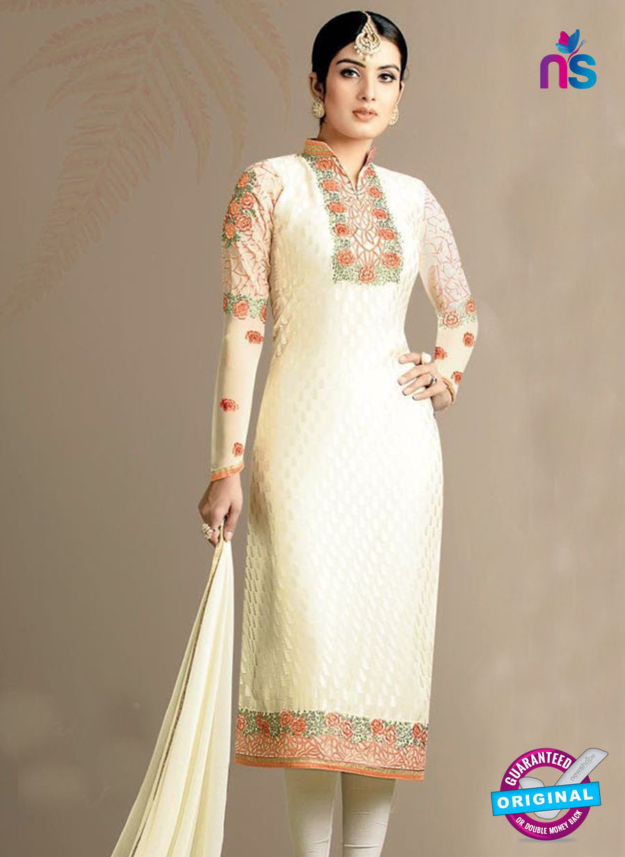 SC 13976 Beige Brasso Designer Function Wear Straight Suit