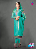 SC 13977 Sea Green Brasso Designer Function Wear Straight Suit