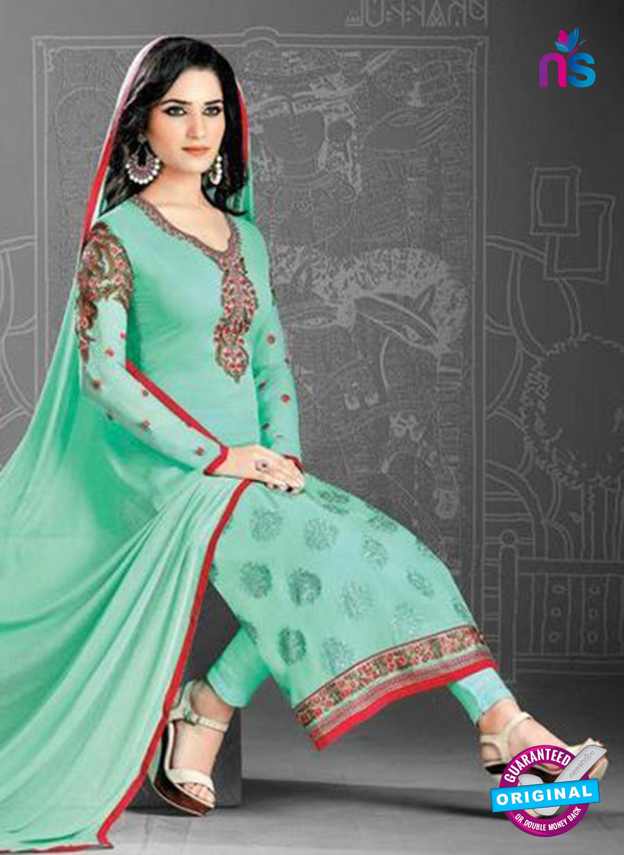 SC 14171 Sea Green Georgette Party Wear Suit