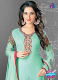 SC 14171 Sea Green Georgette Party Wear Suit Online
