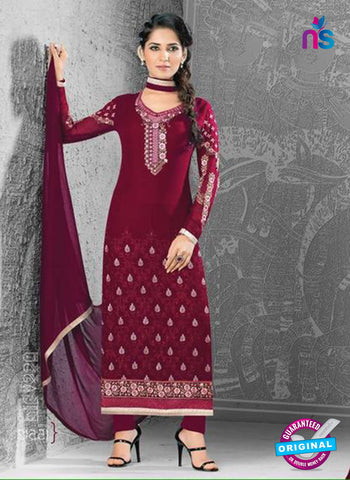 SC 14172 Maroon Georgette Party Wear Suit