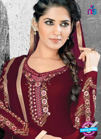 SC 14172 Maroon Georgette Party Wear Suit Online