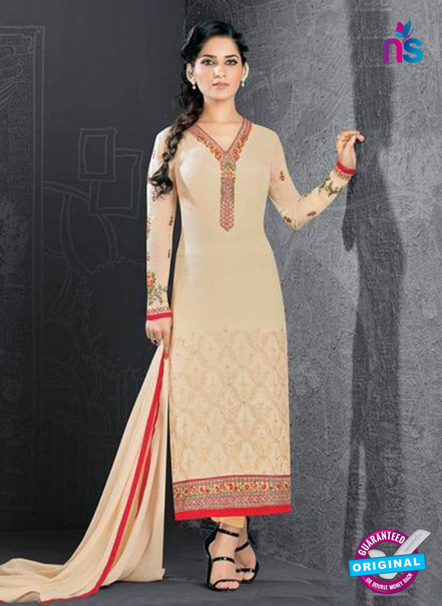 SC 14179 Beige Georgette Party Wear Suit