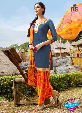 RT 15553 Grey Patiala Suit
